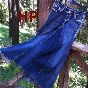 Dresses & Skirts - Original design long denim skirt,HP